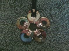 Tutorial on Multi-Colored Flower Washer Necklace