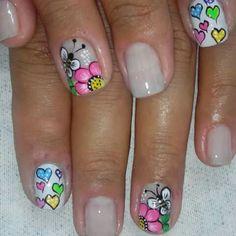 Cute Nail Art, Gel Nail Art, Cute Nails, Pretty Nails, Acrylic Nails, Green Nail Designs, Gel Designs, Nail Art Designs, Diy Nails