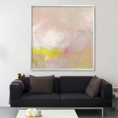 """ABSTRACT painting, Giclee, Fine Art Print, up to 40x40"""", modern Painting, Abstract Art, Acrylic Painting,, light pink yellow"""
