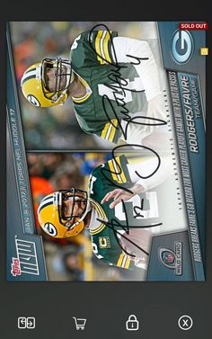 Aaron Rodgers Brett Favre Topps Huddle Dual Signature Digital Card 250CC Packers | Sports Mem, Cards & Fan Shop, Sports Trading Cards, Football Cards | eBay!