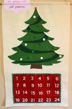 Image result for vintage advent felt christmas tree