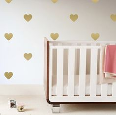Gold Heart Wall Decals - love the look!
