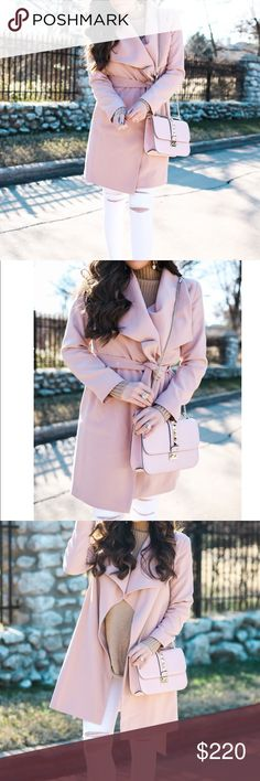Ralph Lauren Belted Wrap Coat💕 Ralph Lauren Belted Wrap Coat. Worn once. Blush pink. Removable belt. Fully lined. Only sign of wear is a small spot, looks like makeup on the right shoulder (shown in last photo above). Other than that perfect condition!                        •n o  t r a d e s• •s m o k e  f r e e / p e t  f r e e  h o m e•   •s a m e / n e x t  d a y  s h i p p i n g• Lauren Ralph Lauren Jackets & Coats