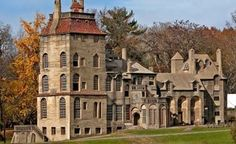 Fonthill Castle ... Celebrating its centennial in 2012, the former home of industrialist-turned-archaeologist Henry Mercer is an ode to artisanship: All 44 rooms (10 bathrooms, five bedrooms, and 200 windows), 32 stairwells, 18 fireplaces, and 21 chimneys are hewn from hand-mixed reinforced concrete in a mishmash of medieval, Gothic, and Byzantine styles.