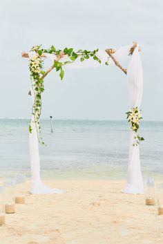 Romantic Wedding arbor, perfect for any Beach or destination wedding | Belize weddings | destination weddings