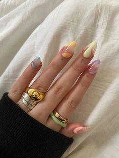 Edgy Nails, Funky Nails, Stylish Nails, Swag Nails, Trendy Nail Art, Nagellack Design, Acylic Nails, Nail Jewelry, Jewellery