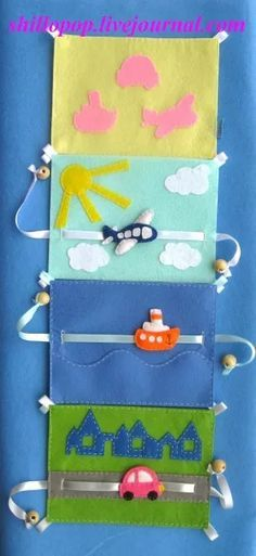 I would like to do the pullie idea in a quiet book.- I would like to do the pullie idea in a quiet book. Possible with cars on the ro… I would like to do the pullie idea in a quiet book. Possible with cars on the road. Diy Quiet Books, Baby Quiet Book, Felt Quiet Books, Baby Crafts, Felt Crafts, Silent Book, Sensory Book, Quiet Book Patterns, Book Quilt