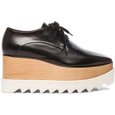 Stella McCartney Elyse Platform Shoes ($995) ❤ liked on Polyvore featuring shoes, stella mccartney, black platform shoes, kohl shoes, platform shoes and black shoes