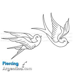 dibujos de golondrinas para tatuajes - Buscar con Google