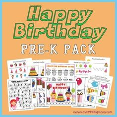 Birthday Pre-K Pack Happy Birthday Pre K Pack - Approx 30 pages of Birthday fun and learning from Pre-K and K aged kids!Happy Birthday Pre K Pack - Approx 30 pages of Birthday fun and learning from Pre-K and K aged kids! Preschool Birthday, Birthday Activities, Pre K Activities, Preschool At Home, Preschool Learning, Fun Learning, Learning Activities, Preschool Groundhog, Classroom Birthday