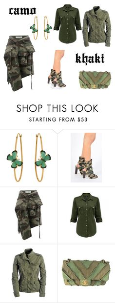 """""""ARMY, HUNTER OR KHAKI GREEN"""" by tanyakc on Polyvore featuring мода, Christina Debs, AJ 