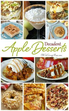 20 Delicious, Decadent Apple Dessert Recipes. Apple recipes are great just about any time of year, but there is something especially magical about Apple desserts at Thanksgiving and Christmas!