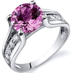 'Gorgeous Lab Pink Sapphire .925 Silver Ring SZ 5-9' is going up for auction at  6am Fri, Sep 21 with a starting bid of $5.