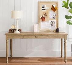 Printer's Large Writing Desk, Tuscan Chestnut stain - Wood Desks - Home Office Furniture - Pottery Barn Home Office Desks, Home Office Furniture, Furniture Decor, Cabin Office, Furniture Dolly, Furniture Logo, Furniture Removal, Urban Furniture, Country Furniture