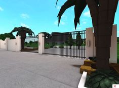 Driveway Gate, Luxury House Plans, My Dream Home, Interior Inspiration, Entryway, Deck, Yard, Exterior, Mansions
