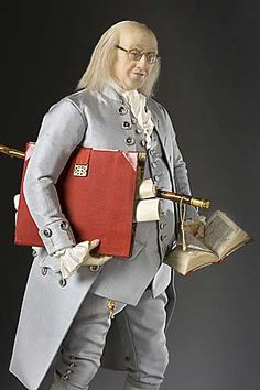 Benjamin Franklin - Figure from the Museum of Ventura County collection.  Historical Figures Collection by George Stuart.