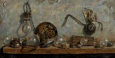 Bombillas #art #painting Oleo sobre Lienzo http://ricardorenedo.gallery/