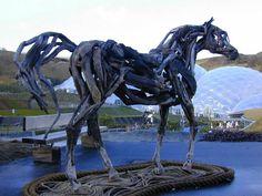 Another amazing driftwood sculpture by Heather Jansch