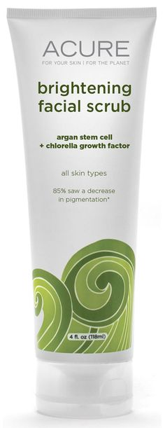 Acure Organics Brightening Facial Scrub Sea Kelp plus Chlorella Growth Factor, reallly like this facial srub..thick and green, but I think makes a difference.
