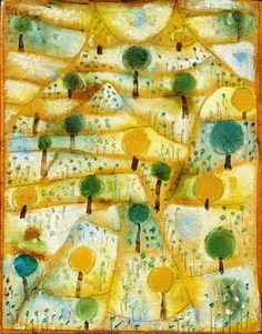 lawrenceleemagnuson: Paul Klee (1879-1940)Small Rhythmic Landscape (1920)oil on canvas mounted on cardboard 27.8 x 21.5 cm