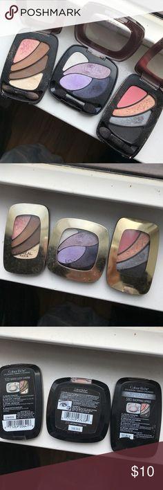 3 LÓREAL PARIS eye shadows 103 good luck charm, 270 unforgettable lilac, 560 shopping spree Makeup Eyeshadow