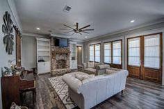 Safe Room, Dormer Windows, Modern Farmhouse Plans, Farmhouse Style, Country Style House Plans, Barn House Plans, Build Your Dream Home, Living Spaces, Living Room