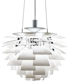PH Artichoke Pendant Lamp by Louis Poulsen   Designed in 1958 by Poul Henningsen for the Langelinie Pavillonen restaurant in Copenhagen, the PH Artichoke feature a world-famous form, and glare-free light from any angle.   Now on sale at 2Modern Furniture & Lighting