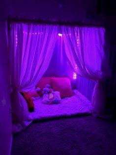 Kid Fort In 2019 Dream Rooms Room Decor Bedroom Neon Bedroom, Room Design Bedroom, Room Ideas Bedroom, Bedroom Decor, Childs Bedroom, Bedroom Lighting, Neon Lights Bedroom, Closet Bedroom, White Bedroom