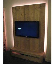 tv wandmeubel steigerhout google zoeken - Tv Wand