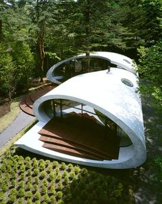 amazing houses in the woods | Spicytec: Shell House in the Japanese Forests