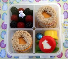 Love the cut-out sandwiches that match the baby bel.
