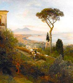 Oswald Achenbach (1827-1905)  Nel Golfo di Napoli, 1880
