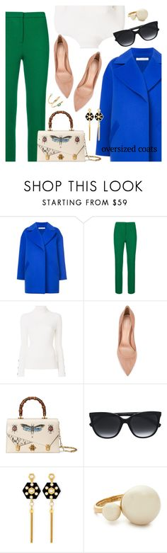 """""""Oversized Coat"""" by dressedbyrose ❤ liked on Polyvore featuring Oscar de la Renta, See by Chloé, Gianvito Rossi, Gucci, Tommy Hilfiger, Henri Bendel, Kate Spade, ZoÃ« Chicco, ootd and polyvoreeditorial"""