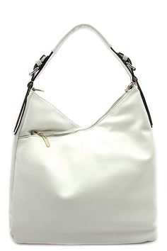 66a5359ec3d Designer Hobo Bag 2 zipper   1 magnetic button top closure Textured faux  leather Inside lining with open zip pockets 15 inch handle   48 inch  adjustable ...