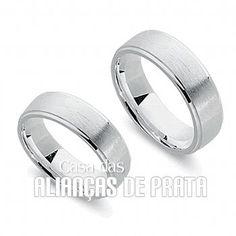 Par de alianças de compromisso em prata 950  Peso aproximado: 11 gramas o par  R$ 275,00  http://casadasaliancasdeprata.com.br/