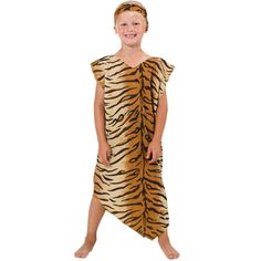 Caveman or Cavegirl Costume for Kids One Size 5-9 Years -- Continue to the product at the image link.