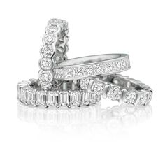 Our hand-crafted eternity rings are available  in platinum, 18ct white, yellow & rose gold.
