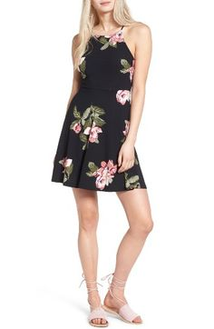 Free shipping and returns on Lush Ava Skater Dress at Nordstrom.com. Fitted on top and flared on the bottom, this flirty little sundress is never the wrong choice for a warm spring day.