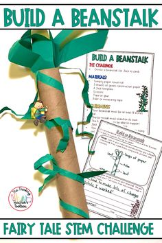 Take Jack and the Beanstalk to the next level with this Fairy Tale STEM activity. Students will plan, design, build, and test a beanstalk for Jack to climb. This resource requires minimal materials and is low-prep. Perfect for elementary school! Build a Beanstalk STEM is a great way to integrate reading, writing, science, and math. Elementary Science, Science Classroom, Classroom Resources, Cool Science Experiments, Science Ideas, Spring Activities, Stem Activities, Critical Thinking Activities, Engage In Learning