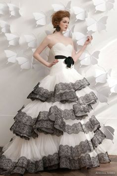 atelier aimee wedding dress 2013 strapless ball gown black lace