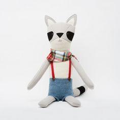 Chester the Raccoon -- Walnut Animal Society's stuffed animals. Handmade in the USA ($98)