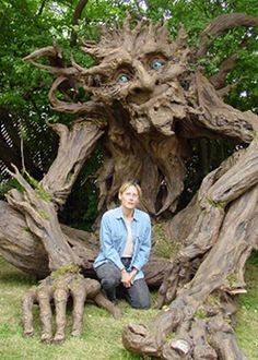 Kim Beaton Studios - look at this amazing tree troll.  It's made of papier mache!