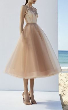 A-line simple prom dress ,tulle evening dress ,party dress tea length - Dresses - Uejda FiljaA-line simple prom dress ,tulle evening dress ,party dress tea length sold by Handmade Dress on Storenvy Elegant Dresses, Pretty Dresses, Beautiful Dresses, Formal Dresses, Midi Dresses, Pastel Dress Formal, Sexy Dresses, Pastel Gowns, Soft Pink Dress