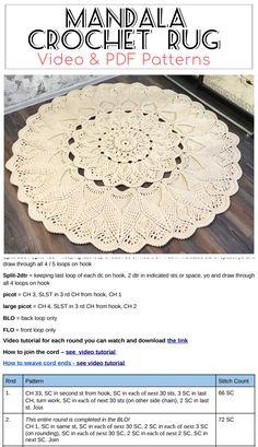 Tutorial crocheting rugs , Written instruction doily by Crochet Doily Rug, Crochet Carpet, Crochet Rug Patterns, Crochet Mandala Pattern, Crochet Quilt, Granny Square Crochet Pattern, Crochet Home, Crochet Gifts, Diy Crochet