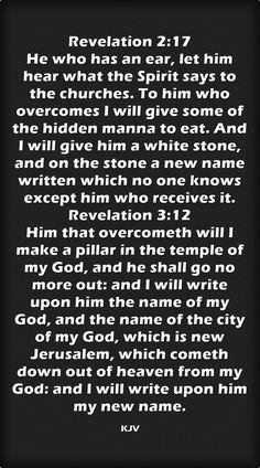 Revelation 2:17 Revelation 3:12 King James KJV