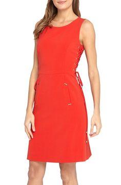 b097b323 Tahari Sleeveless Sheath Dress with Lace-Up Sides (Regular & Petite)  available