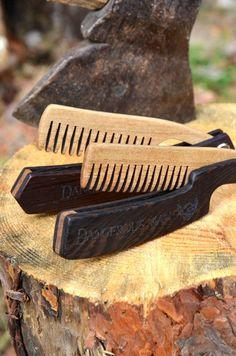 Wooden Folding Comb Grooming kit Beard care Beard gifts Beard balm oil Mens grooming Beard brush Pocket comb Beard grooming Hair comb Gift