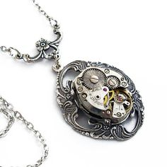 Seems Like Old Times - Steampunk Necklace Jewelry