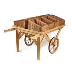 Wooden stand & wicker baskets
