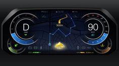 自動車メーターのUIデザイン(アニメーション) - Car Meter UI Design(motion)